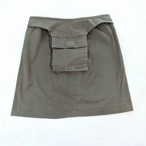 Ralph Lauren Hunter Green Skirt With Pocket Pouch